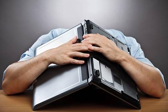 Head under laptop crocus coaching